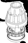 Двигатель для промышленных пылесосов Starmix серии ISC/ISP